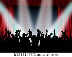 crowd in concert