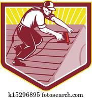 dachdecker, roofing, arbeiter, früher
