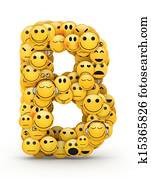 Emoticons letter B