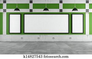 Empty university classroom