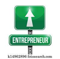 entrepreneur road sign illustrations design