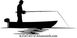 fischer, in, a, boot, silhouette
