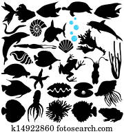 fish,, sealife,, marine, life,, meeresfrüchte