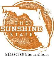 Florida Sunshine State Stamp