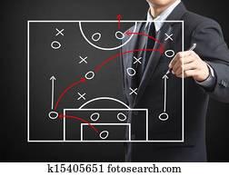 Football coach writing strategy