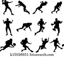 football spieler, silhouette