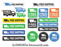 Free Shipping icons and buttons