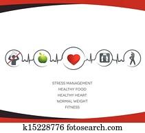 gesunder lebensstil, symbole