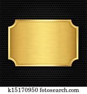 gold, struktur, plate,, vektor, illustra