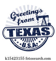 Greetings from Texas stamp