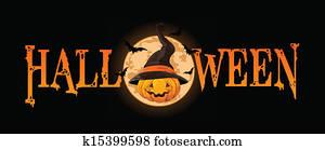 halloweenkuerbis, spruchbaender