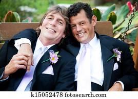 Handsome Gay Men on Wedding Day