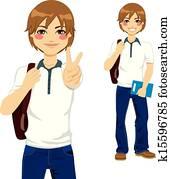Handsome Student Teen