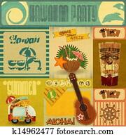 Hawaii Vintage Card