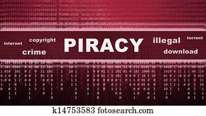 illegal piracy download concept