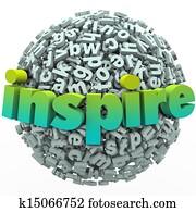 Inspire Word 3D Letter Sphere Ball Motivational Education