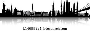International skyline vector
