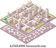 Isometric city map creation kit