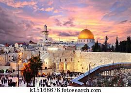 jerusalem alte stadt, an, bügel- einfassung