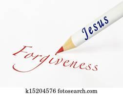 Jesus spells forgiveness