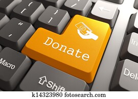 Keyboard with Donate Button.