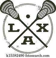 Lacrosse LAX Sport Stamp