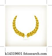 Laurel wreath, award vector