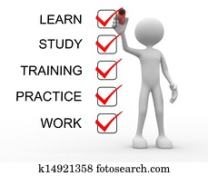 Learn, study, practice, training, work