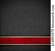 Luxury Floral Gray and Red Velvet Background