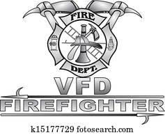 Maltese Fire Cross Vector