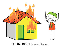 house fire clip art illustrations 6 465 house fire clipart eps rh fotosearch com house on fire cartoon firehouse clipart free