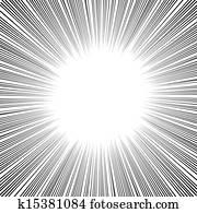 Manga Comics Radial Speed Lines