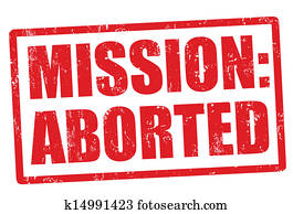 Mission aborted stamp