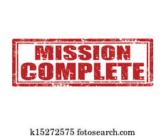 Mission complete-stamp