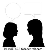 mother and daughter face to face dialogue