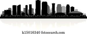 New Orleans city skyline silhouette