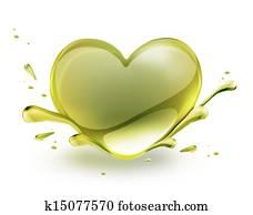 oil heart