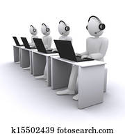operators or managers from call-center