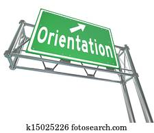 Orientation Green Freeway Sign New Recruit Student Employee