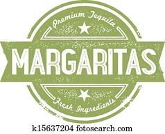 Premium Margarita Cocktail Stamp
