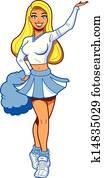 Pretty Blonde Cheerleader