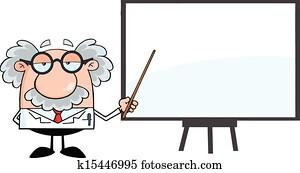 Professor Presenting On A Board
