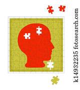 Psychology metaphor - mental health disorder, psychiatry etc