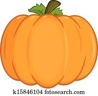 Pumpkin Cartoon Illustration