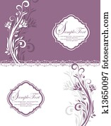 Purple Floral Bridal Shower Invitat