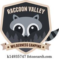 Raccoon badge