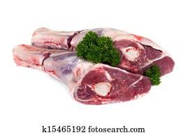 Raw Lamb Shanks Isolated