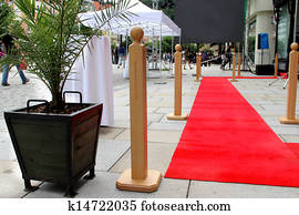 Red carpet and building