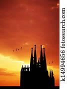 Sagrada Familia silhouette