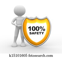 Shield. 100% SAFETY